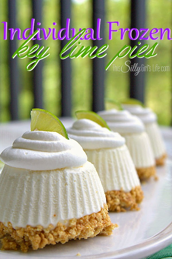 Individual, Frozen Key Lime Pies, shared by This Silly Girl's Life