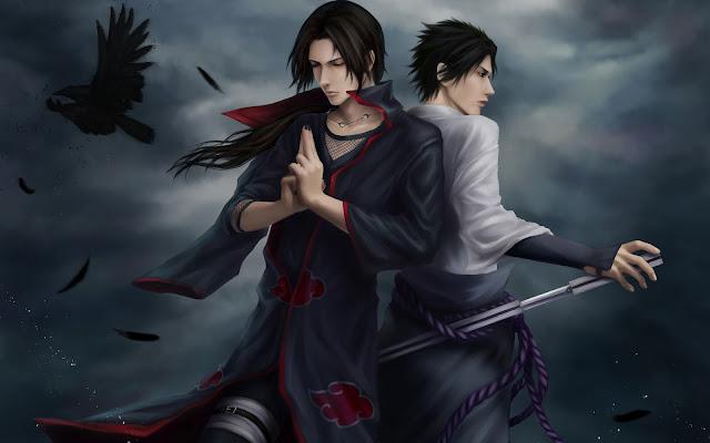 Sasuke Uchiha y Madara Uchiha Naruto Shippuden