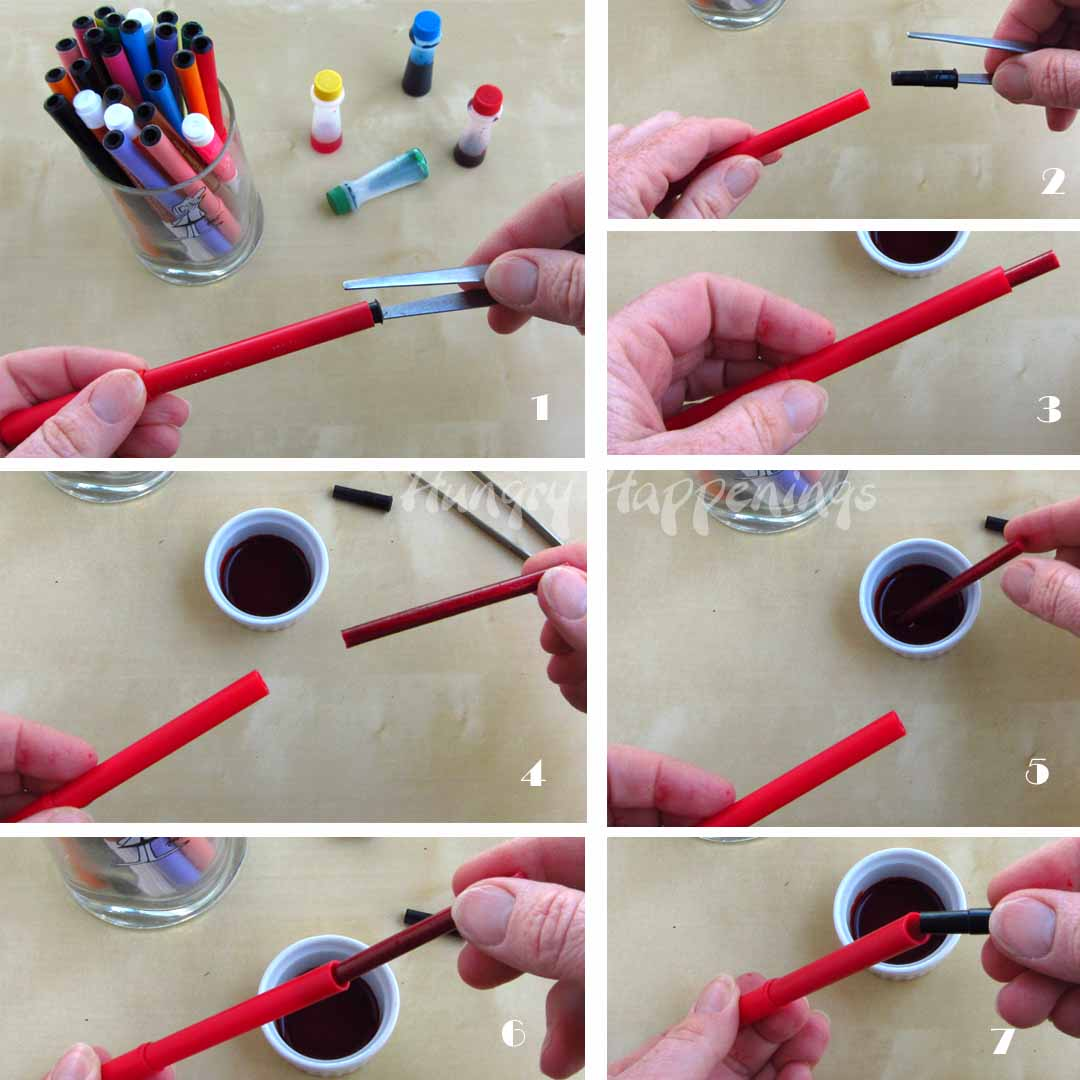 tips on how to use edible ink food coloring markers to draw on foods