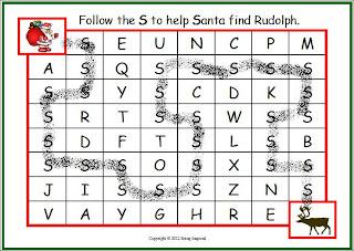 Letter Maze - help Santa find Rudolph