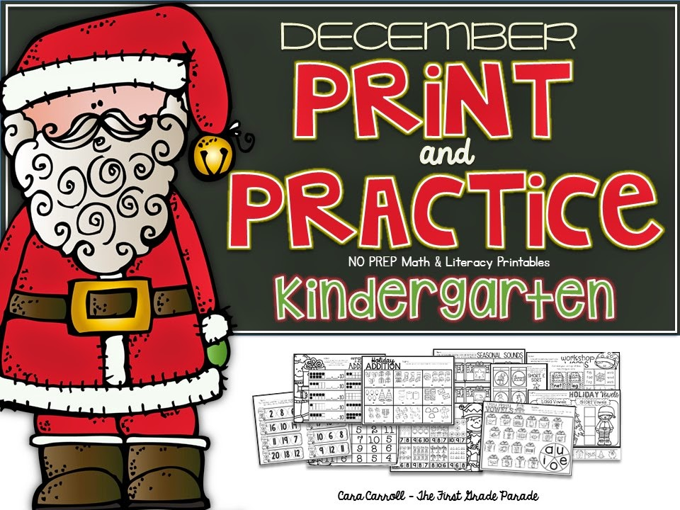 Kindergarten NO PREP Math & Literacy Printables
