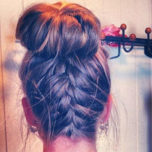 Mushroom braid style for ladies hair
