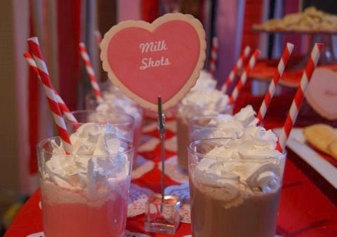Milk And Cookies Valentine Playdate milk shots