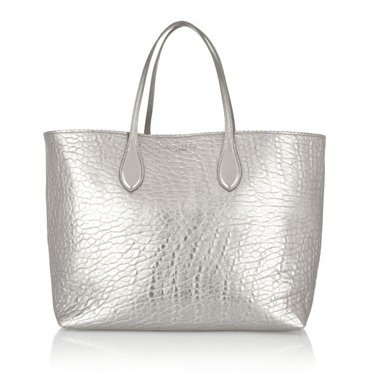 Rochas zig zag silver tote, Fashion and Cookies