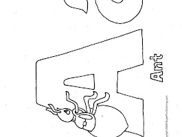 Letter A Coloring Pages For Preschoolers