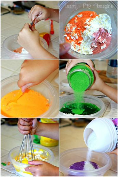 How to make scented sand paint - a multisensory art recipe