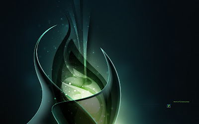 Abstract Wallpaper : Green Consciousness