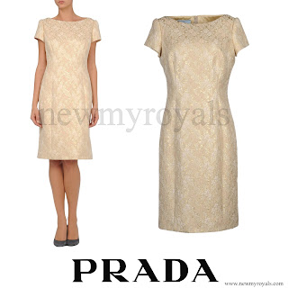 Crown Princess Mary wore Prada Beige Short Dress