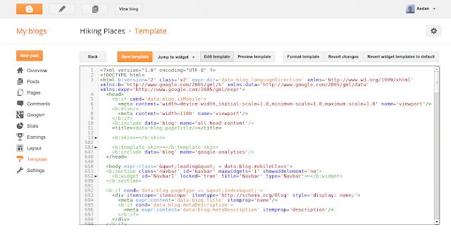 Perubahan pada edit HTML