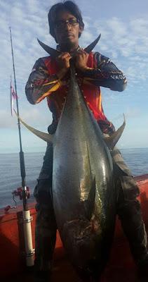 cara mancing tuna dengan berhanyut