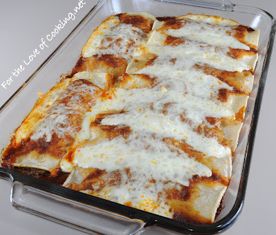 Shredded Beef Enchiladas with Homemade Enchilada Sauce
