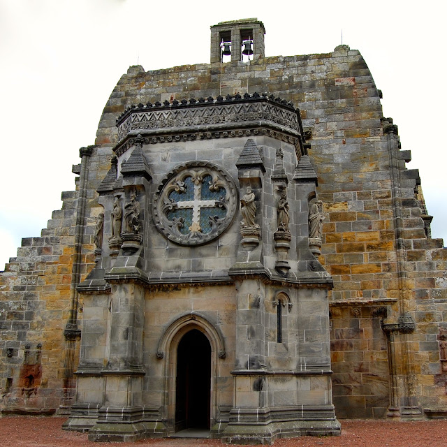 Rosslyn Chapel baptistry from Victorian era