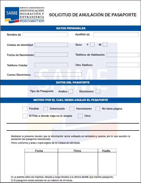 Pasaportes Venezuela - Solicitud de nuevo pasaporte por vencimiento ...