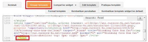 pasang kode CSS di dalam blog