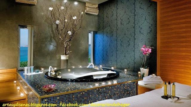 Ideas Para Decorar Un Baño Con Jacuzzi:jacuzzis para baños después de un día muy estresado en la casa en