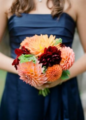 Beyond the aisle inspirations for a colorful fall wedding for Navy dress for fall wedding