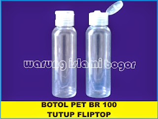 Botol PET 100ml Fliptop