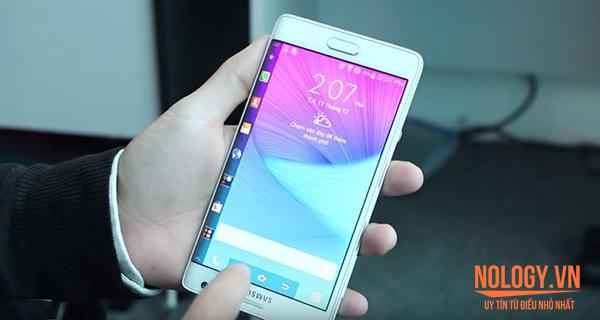 Đổi ngược màn hình Galaxy Note Edge Docomo 180 độ