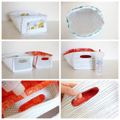 Cestas Tecido reversíveis DIY por Delia Cria