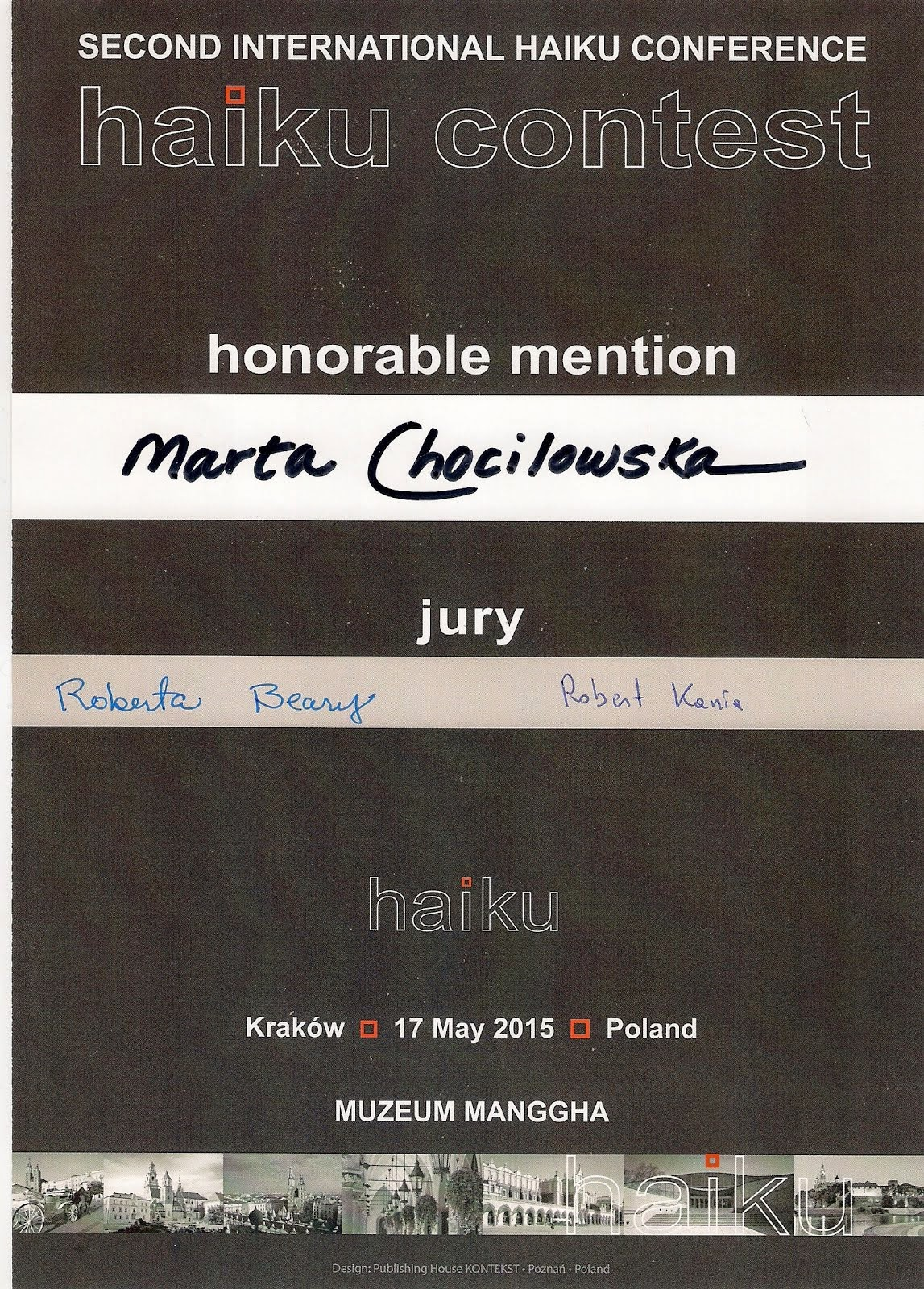 Haiku Contest Cracow