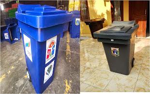 Bahan Polyethylene roda 130 liter
