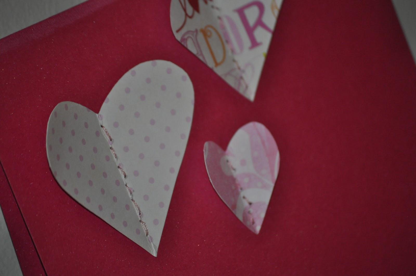 Hand sewn hearts