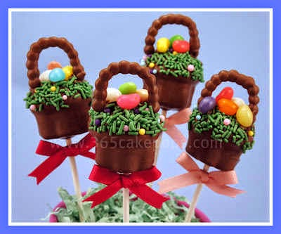 Easter Basket Cake Pops by 365 Cake Pops