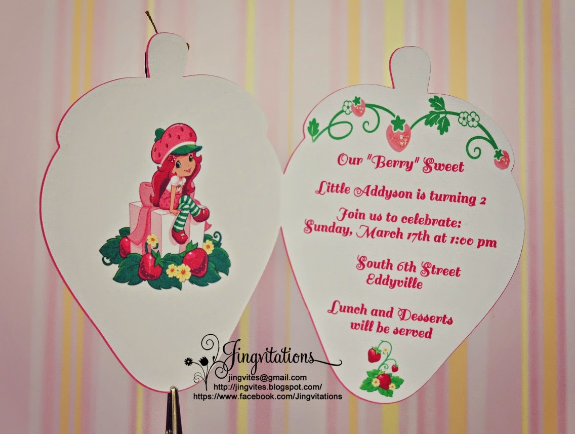 Strawberry Shortcake Birthday Invitations could be nice ideas for your invitation template