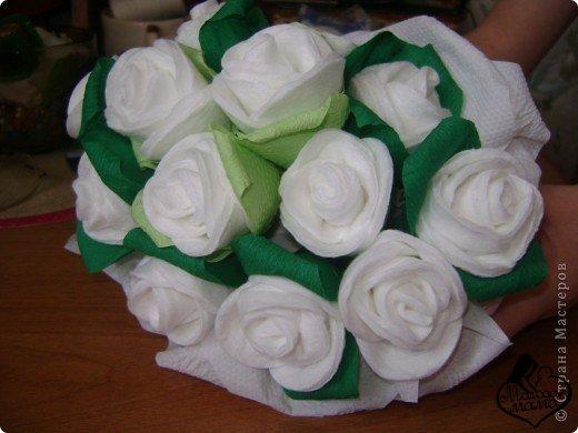 Как сделать розы из ватных дисков