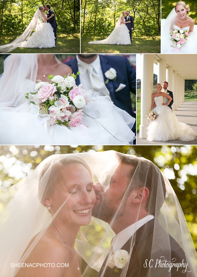 Morris Estate Niles Wedding photographer, bride veil photo