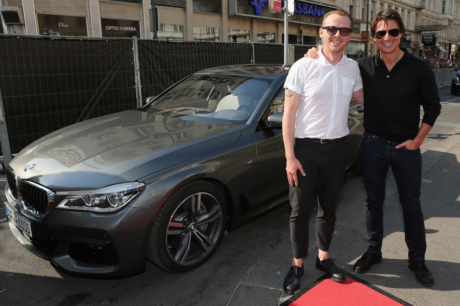 photo of Simon Pegg BMW - car