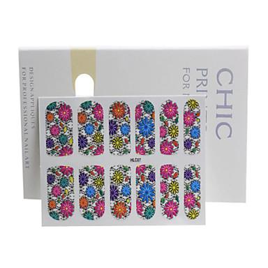 Nuevas pegatinas de flores para u as calcomania y for Pegatinas pared baratas