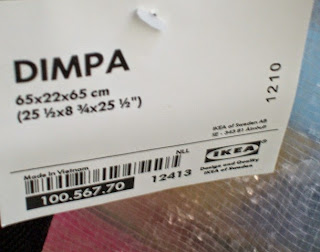 IKEA Dimpa bag tag