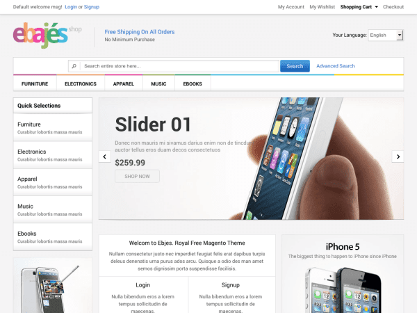 25 Best Free E-commerce Magento Themes 2014