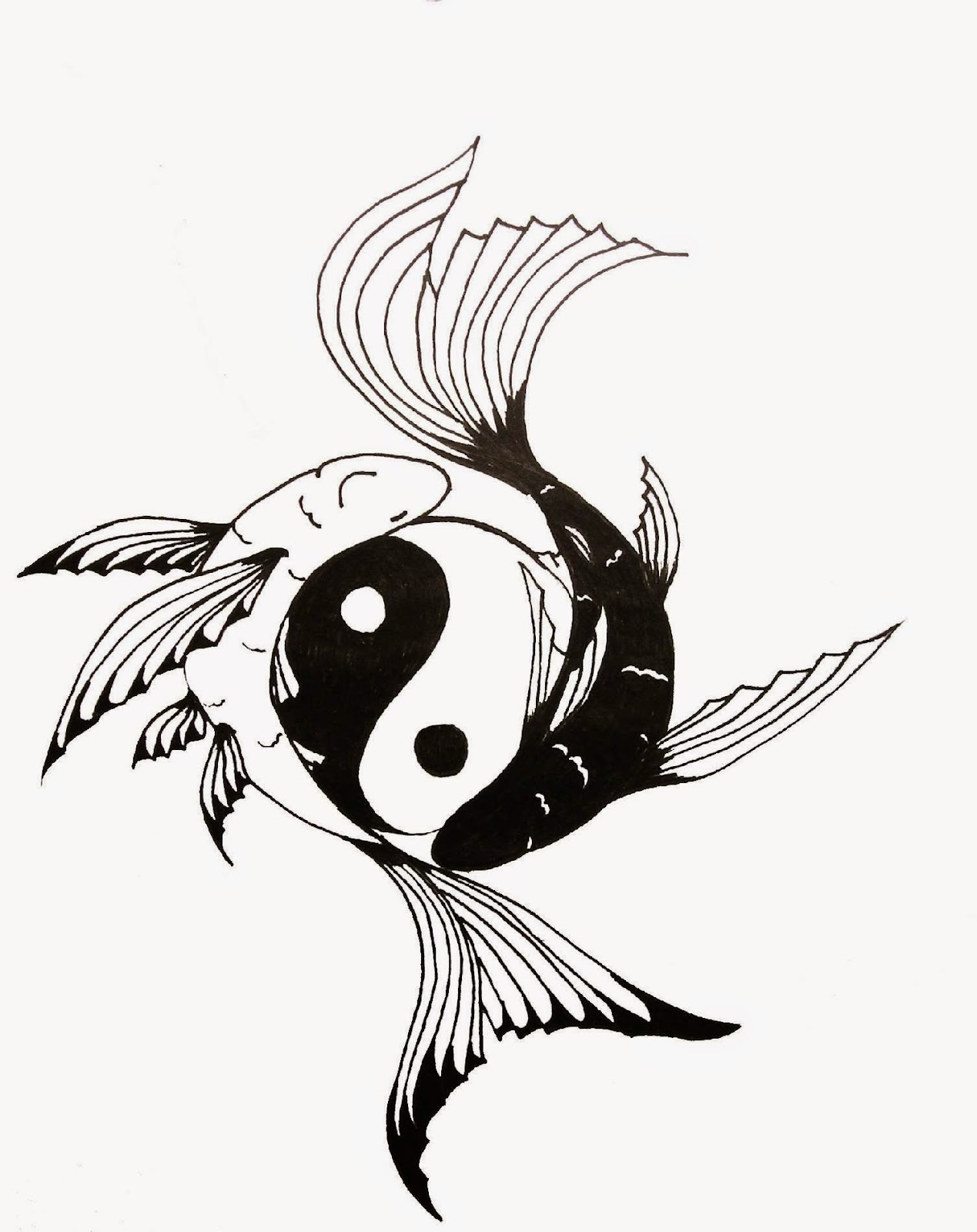 Ying yang tattoo tattoo designs for Yin yang fish tattoo