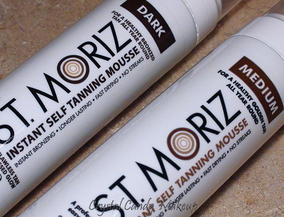 crystal candy makeup blog review and swatches mousse autobronzante de st moriz medium et dark. Black Bedroom Furniture Sets. Home Design Ideas