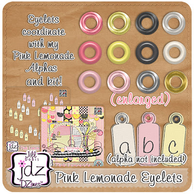 New Bits and Bytes at ScrapDIsh  - Pink Lemonade - and FREEBIE!