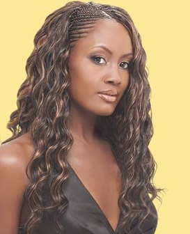 Celebrity micro braids hairstyles.