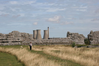 cooling towers seen from Roman fort