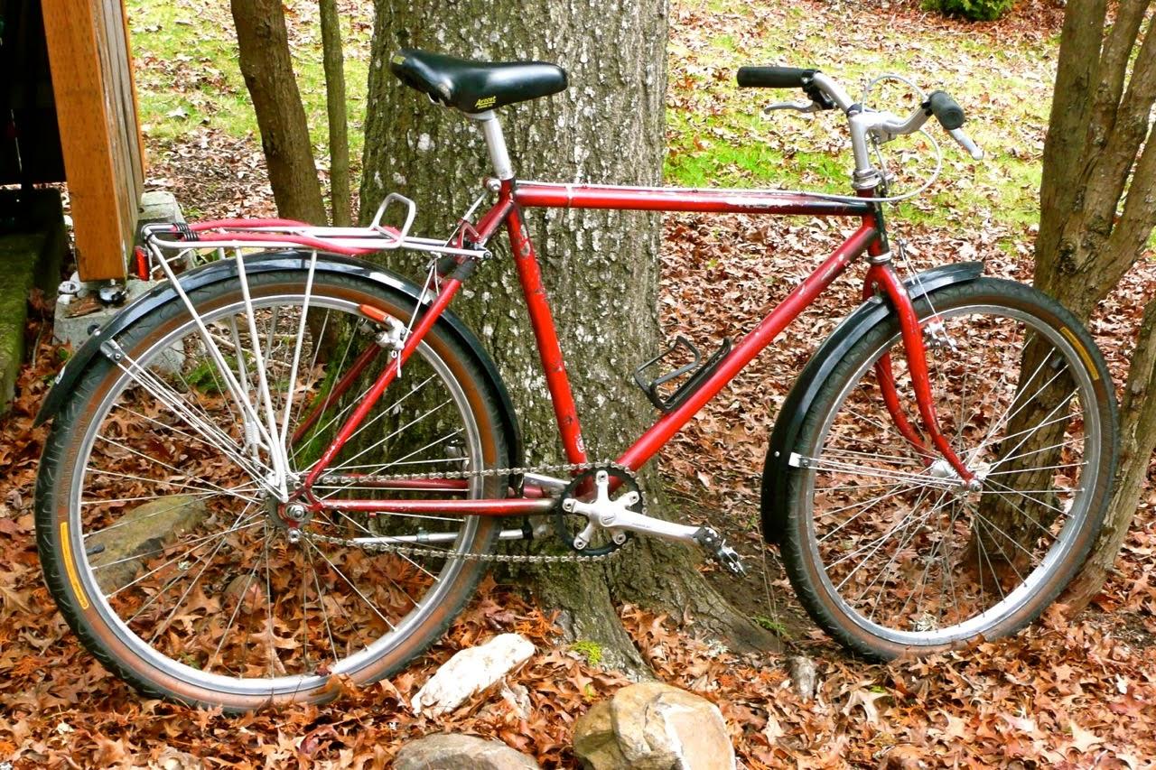 single speed, Eugene, Oregon, rain bike,