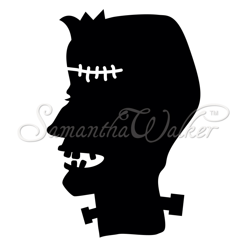 Frankenstein Silhouette New this week Frankenstein Head Silhouette