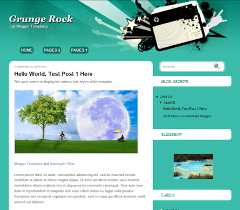 Grunge Rock Blogger Theme