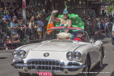 Girl in fancy dress, St Patrick's Day Parade, Sydney