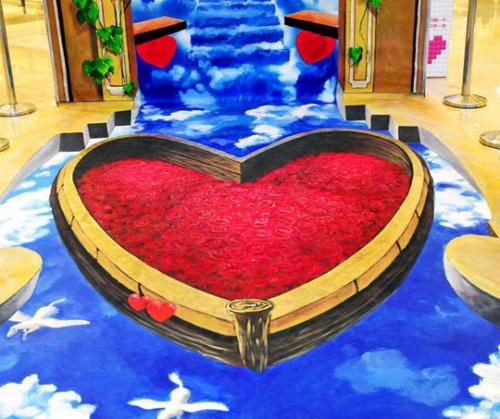 Lukisan 3D Dalam Rangka Hari Valentine Day