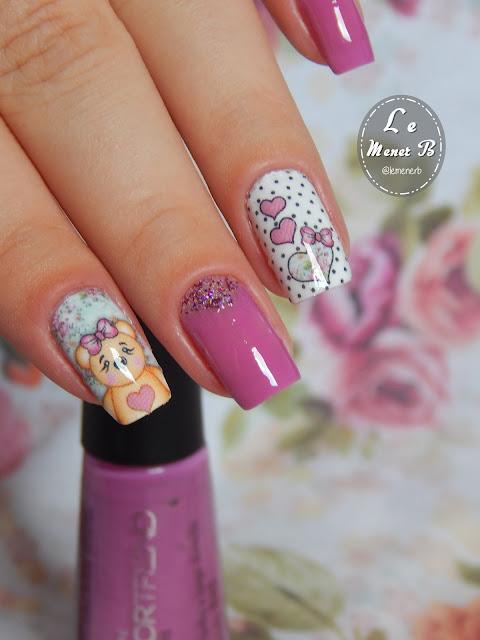 nail art de ursinho