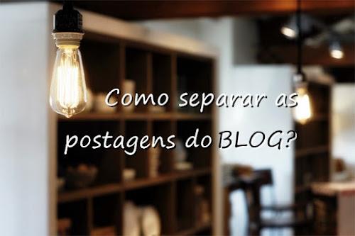 Como separar as postagens do blog