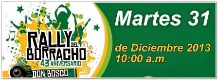 """Un adiós al  2013, en el """"Rally del Borracho"""" con Kinito Mendez"""