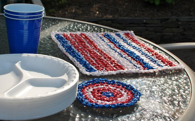 Plarn Placemats and Coasters Crochet Pattern