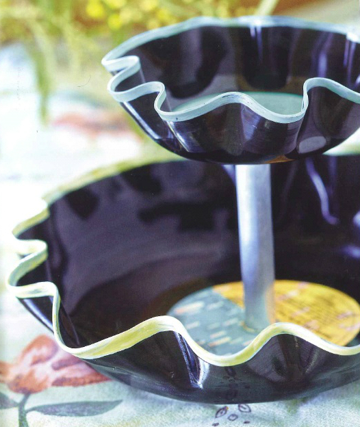 image op shop chic refashion found treasures vinyl record bowl stand rosie lyons