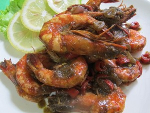 Resep Seafood: Udang Bumbu Kare